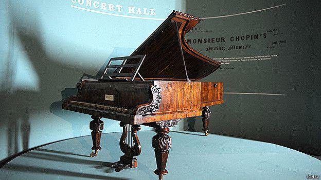 پیانویی که شوپن در ۴ کنسرت با آن نواخت