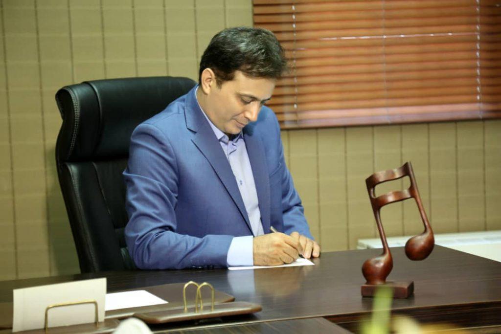 خوش آمدگویی دکتر مجید اخشابی مدیریت آموزشگاه موسیقی همراز