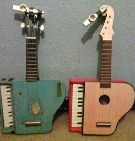 ترکیب پیانو و گیتار در یک ساز